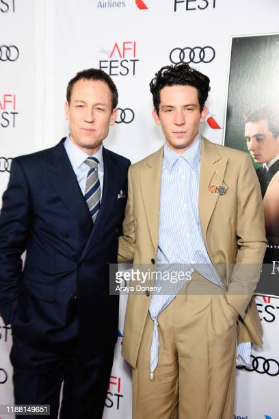 Tobias Menzies and Josh O'Connor attend AFI Fest The Crown Peter Morgan Tribute at TCL Chinese Theatre on November 16 2019 in Hollywood California