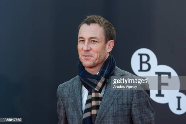 Tobias Menzies attends the European film premiere of 'Belfast' at the Royal Festival Hall during the 65th BFI London Film Festival in London, United...