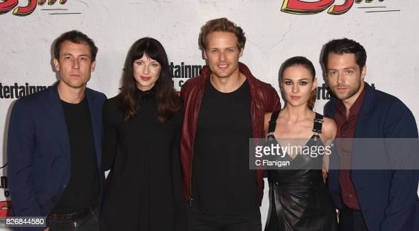 Tobias Menzies Caitriona Balfe Sam Heughan Sophie Skelton and Richard Rankin at Entertainment Weekly's annual ComicCon party in celebration of...
