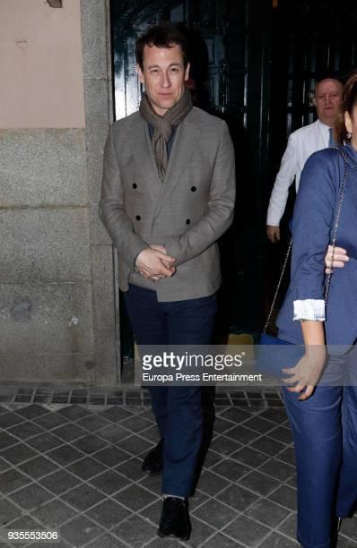 Tobias Menzies is seen leaving Lando restaurant on March 20 2018 in Madrid Spain