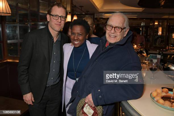 Tobias Menzies, Jade Anouka and Sir John Standing attend the Platform Presents Poetry Gala 2019 after party at J Sheekey Atlantic Bar on January 20,...