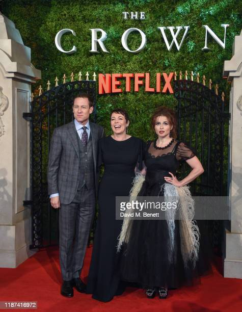 "Tobias Menzies, Olivia Colman and Helena Bonham Carter attend the World Premiere of Netflix Original Series ""The Crown"" Season 3 at The Curzon..."