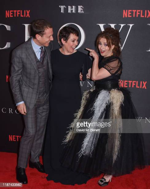Tobias Menzies Olivia Colman and Helena Bonham Carter attend the World Premiere of Netflix Original Series The Crown Season 3 at The Curzon Mayfair...
