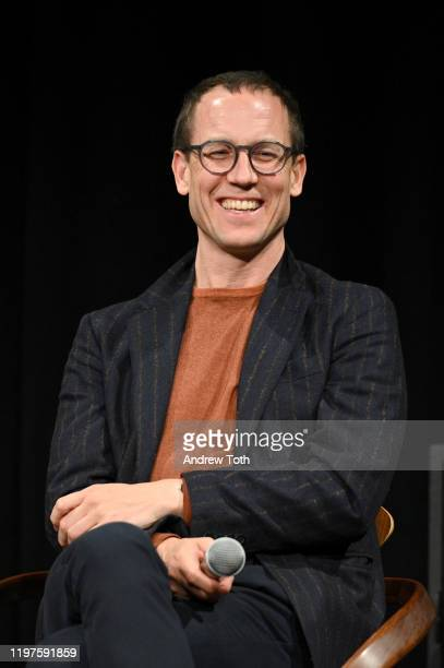 Tobias Menzies speaks onstage at The Crown SAG Screening Reception at NeueHouse Los Angeles on January 04 2020 in Hollywood California