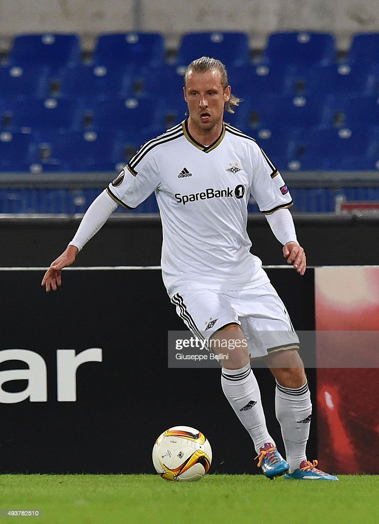 Tobias Mikkelsen of Rosenborg BK in action during the UEFA Europa League group G match between SS Lazio and Rosenborg BK at Stadio Olimpico on October 22, 2015 in Rome, Italy.