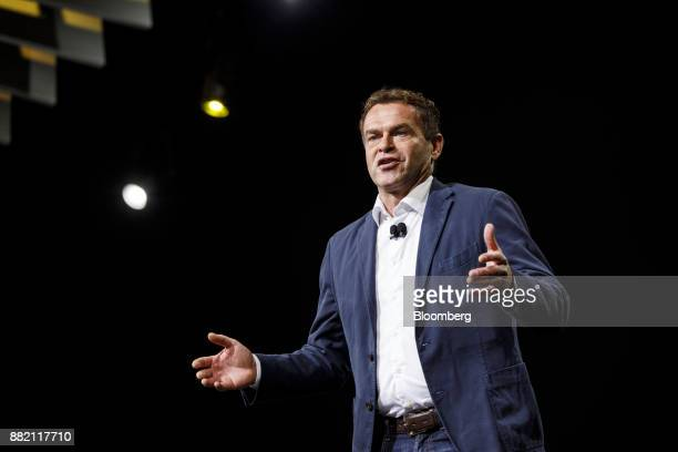 Tobias Moers chief executive officer of MercedesBenz AMG speaks during AutoMobility LA ahead of the Los Angeles Auto Show in Los Angeles California...