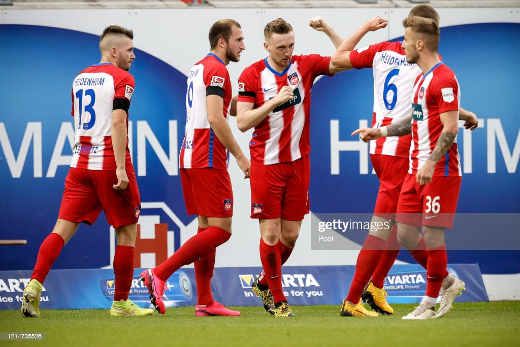 1. FC Heidenheim 1846 v SV Wehen Wiesbaden - Second Bundesliga : Fotografía de noticias