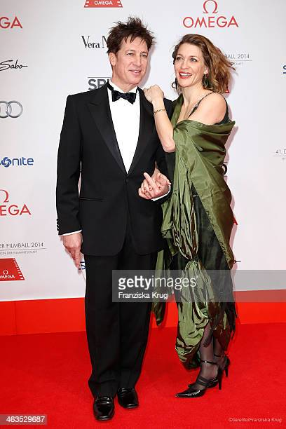 Tobias Moretti and his wife Julia Moretti attend the German Film Ball 2014 on January 18, 2014 in Munich, Germany.
