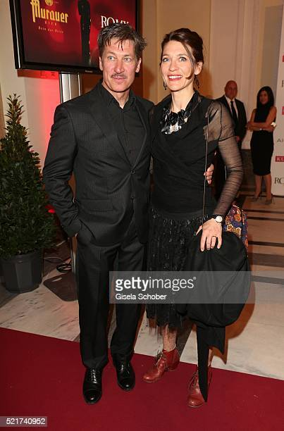 Tobias Moretti and his wife Julia Moretti during the 27th ROMY Award 2015 at Hofburg Vienna on April 16, 2016 in Vienna, Austria.