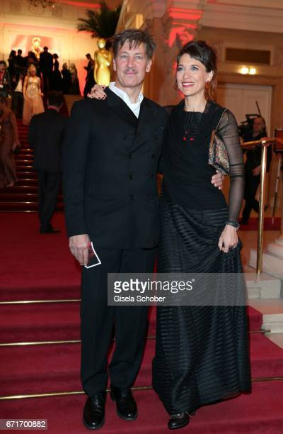 Tobias Moretti and his wife Julia Moretti during the ROMY award at Hofburg Vienna on April 22 2017 in Vienna Austria