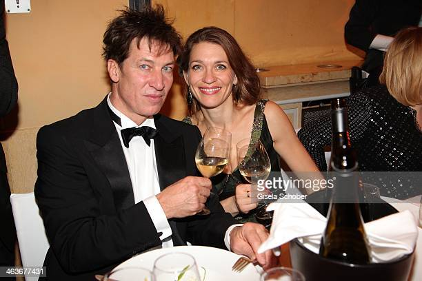 Tobias Moretti and wife Julia attend the German Film Ball 2014 at Hotel Bayerischer Hof on January 18, 2014 in Munich, Germany.