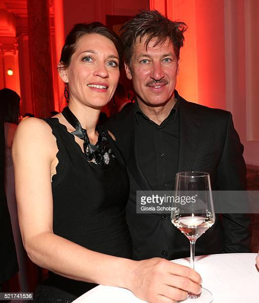 Tobias Moretti, his wife Julia Moretti during the 27th ROMY Award 2015 at Hofburg Vienna on April 16, 2016 in Vienna, Austria.