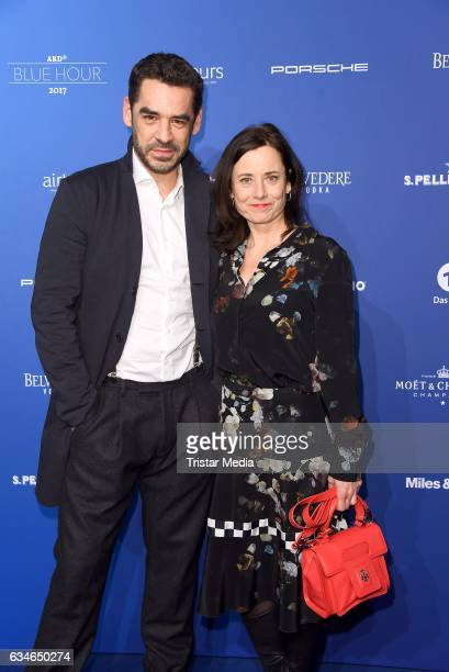 Tobias Oertel and Inka Friedrich attends the Blue Hour Reception hosted by ARD during the 67th Berlinale International Film Festival Berlin on...