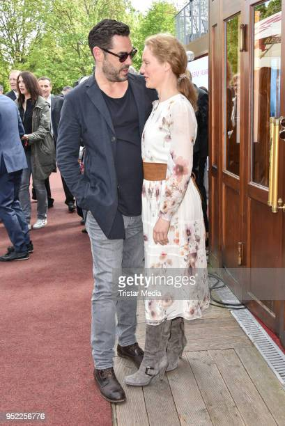 Tobias Ortel and Tessa Mittelstaedt during the 45th anniversary celebration of Ziegler Film at Tipi am Kanzleramt on April 27 2018 in Berlin Germany