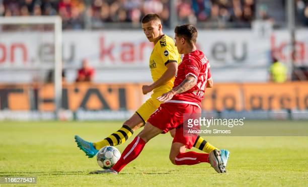 Tobias Raschl during the friendly match between Energie Cottbus and Borussia Dortmund at Stadion der Freundschaft on September 6, 2019 in Cottbus,...