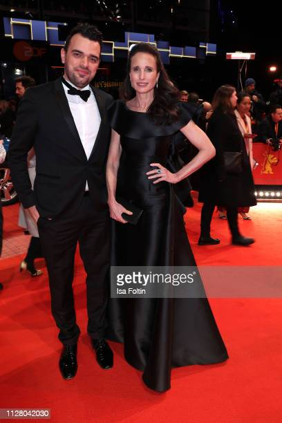 Tobias Render and Andie MacDowell attend the opening ceremony and The Kindness Of Strangers premiere during the 69th Berlinale International Film...