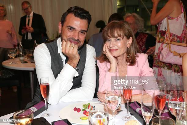 Tobias Render and Isabelle Huppert during the media night of the CHIO 2017 on July 18 2017 in Aachen Germany