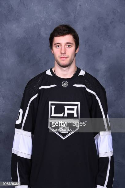Tobias Rieder of the Los Angeles Kings poses for a headshot before a game against the Columbus Blue Jackets at STAPLES Center on March 1 2018 in Los...