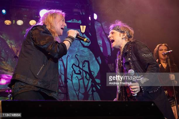 Tobias Sammet of Avantasia and guests perform live on stage during a concert at Huxleys Neue Welt on April 3, 2019 in Berlin, Germany.