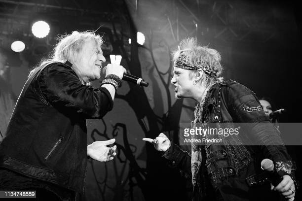 Tobias Sammet of Avantasia performs live on stage during a concert at Huxleys Neue Welt on April 3 2019 in Berlin Germany