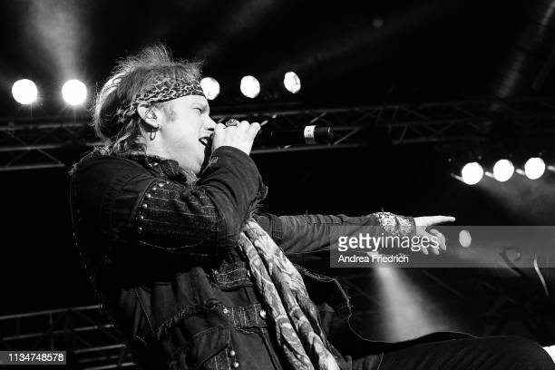 Tobias Sammet of Avantasia performs live on stage during a concert at Huxleys Neue Welt on April 3, 2019 in Berlin, Germany.