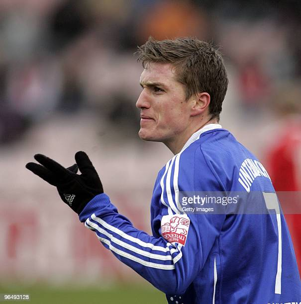 Tobias Schweinsteiger of Unterhaching during the 3Liga match between SpVgg Unterhaching and Bayern Muenchen II at the Generali Sportpark on January...