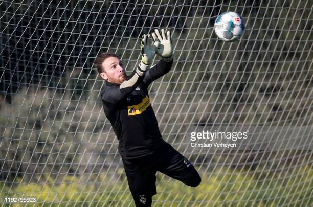 Tobias Sippel of Borussia Moenchengladbach in action during the Borussia Moenchengladbach Training Camp on January 09 2020 in Jerez de la Frontera...