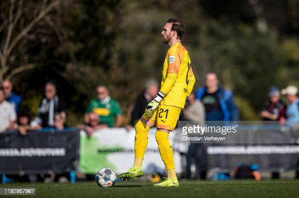 Tobias Sippel of Borussia Moenchengladbach in action during the second friendly match between Borussia Moenchengladbach and SC Freiburg at the...