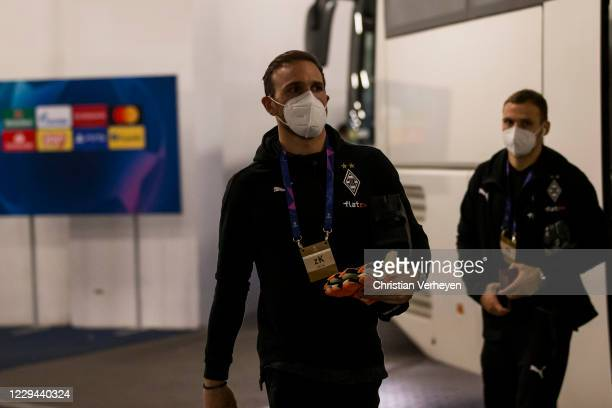 Tobias Sippel of Borussia Moenchengladbach is seen before the Group B UEFA Champions League match between Shakhtar Donetsk and Borussia...