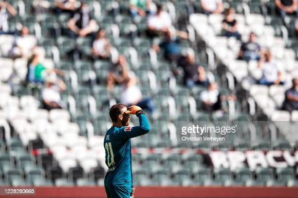 Tobias Sippel of Borussia Moenchengladbach is seen during the PreSeason friendly match between Borussia Moenchengladbach and SpVgg Fuerth at...