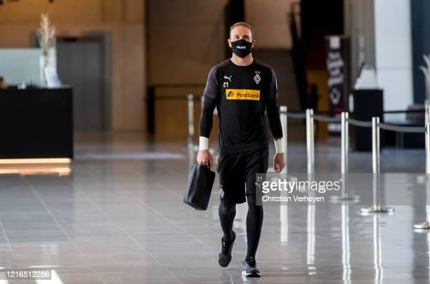 Tobias Sippel of Borussia Monchengladbach is seen before the Bundesliga match between Borussia Moenchengladbach and 1 FC Union Berlin at BorussiaPark...