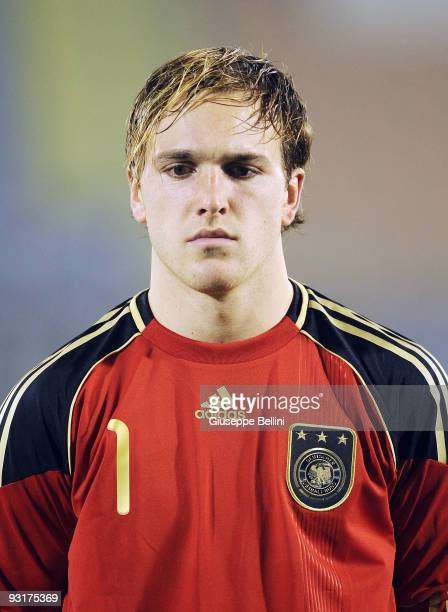 Tobias Sippel of Germany before the UEFA Under 21 Championship match between San Marino and Germany at Olimpico stadium on November 17, 2009 in...
