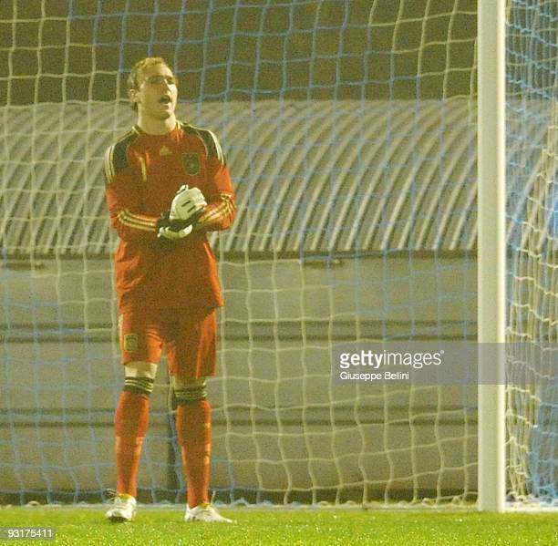 Tobias Sippel of Germany in action during the UEFA Under 21 Championship match between San Marino and Germany at Olimpico stadium on November 17,...