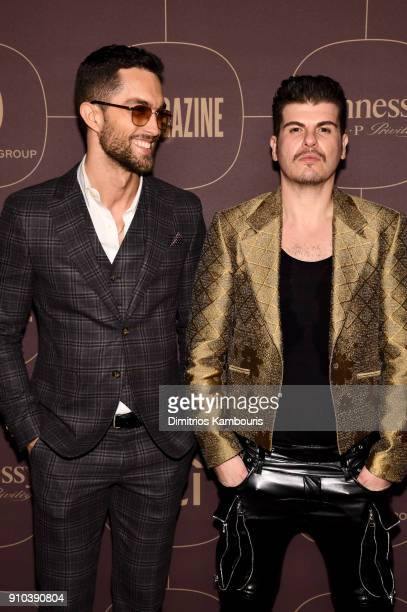 Tobias Sorensen and Eli Mizrahi attend the Warner Music Group PreGrammy Party in association with V Magazine on January 25 2018 in New York City