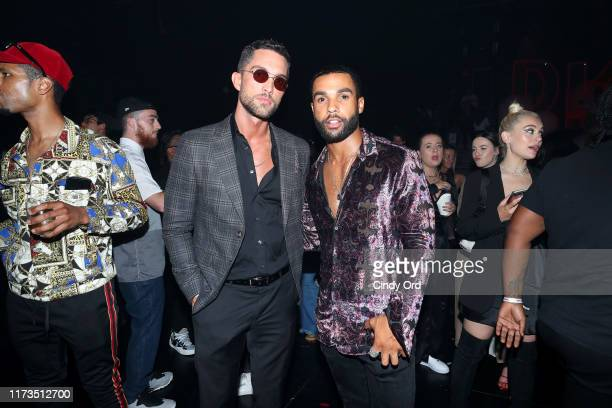 Tobias Sorensen and Lucien Laviscount attend as DKNY turns 30 with special live performances by Halsey and The Martinez Brothers at St Ann's...