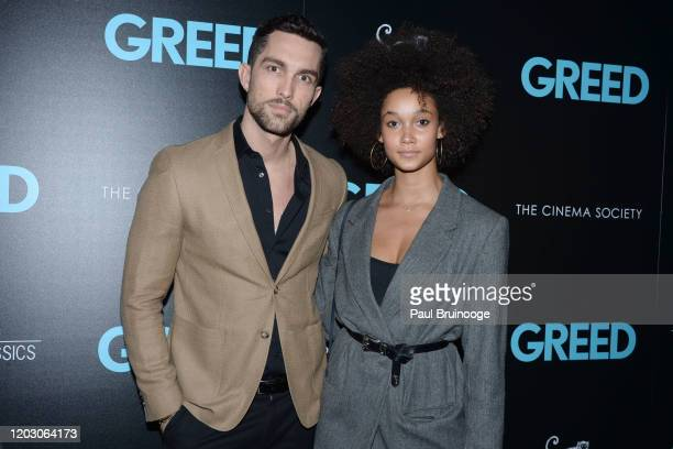 "Tobias Sorensen and Wallette Watson attend The Cinema Society & Monkey 47 Host A Special Screening Of Sony Pictures Classics' ""Greed"" at Cinepolis..."