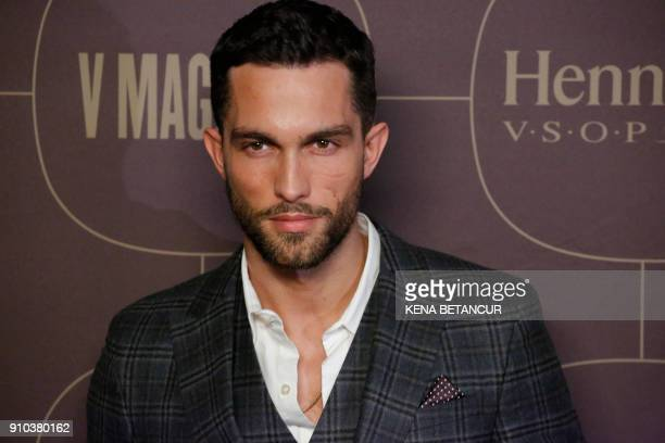 Tobias Sorensen attends the Warner Music Group's annual Grammy celebration in association with V magazine on January 25 2018 in New York / AFP PHOTO...