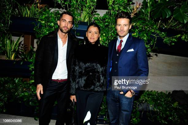 Tobias Sorensen Keytt Lundqvist and Alex Lundqvist attend Netflix Hosts The After Party For 'Roma' at The Pool on November 27 2018 in New York City