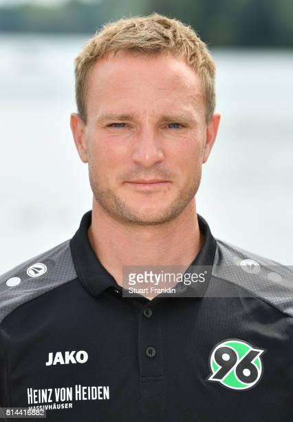 Tobias Stock athletic coach of Hannover 96 poses during the team presentation at on July 14 2017 in Hanover Germany