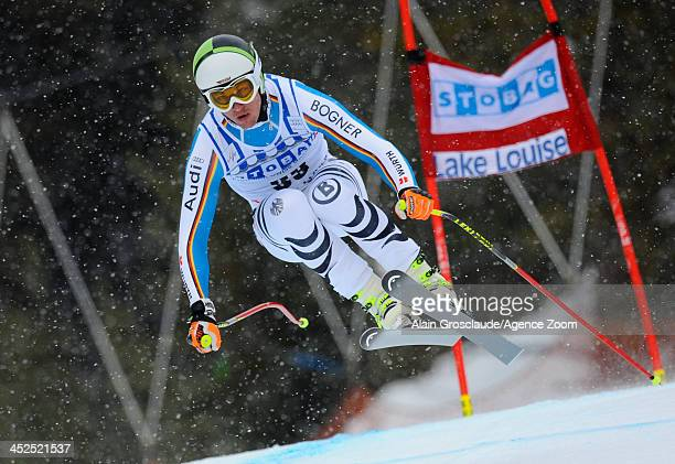 Tobias Strechert of Germany competes during the Audi FIS Alpine Ski World Cup Men's Downhill Training on November 29 2013 in Lake Louise Canada