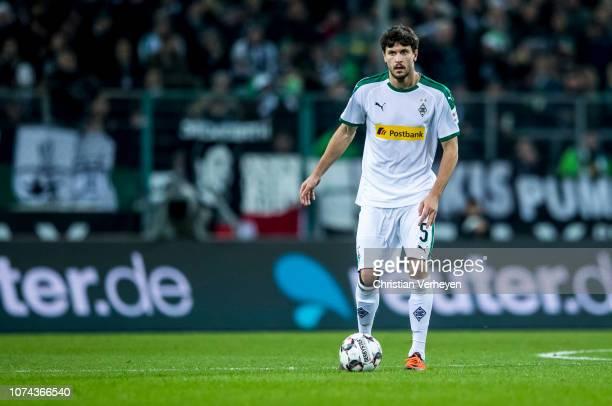 Tobias Strobl of Borussia Moenchengladbach in action during the Bundesliga match between Borussia Moenchengladbach and 1FC Nuernberg at BorussiaPark...