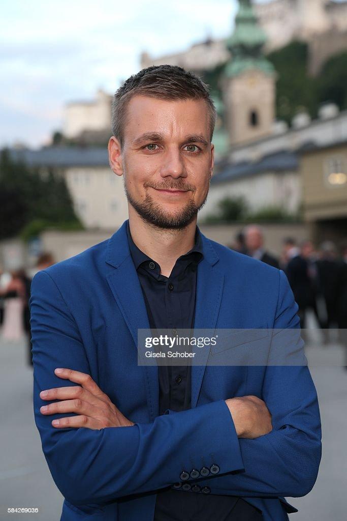 Tobias, Tobi, Schlegl during the opera premiere 'The Exterminating Angel' at Haus fuer Mozart on July 28, 2016 in Salzburg, Austria.