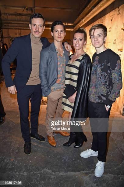 Tobias van Dieken Tim Oliver Schultz Nele Kiper and Nick Julius Schuck attend the KXXK show during Berlin Fashion Week Autumn/Winter 2020 at...