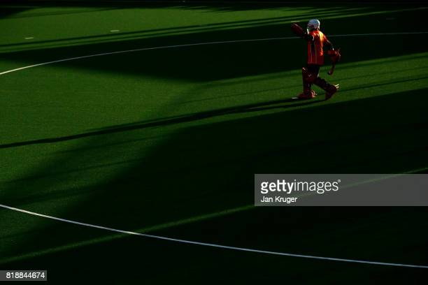 Tobias Walter of Germany looks on prior during the Quarter final match between Germany and France during Day 6 of the FIH Hockey World League Men's...