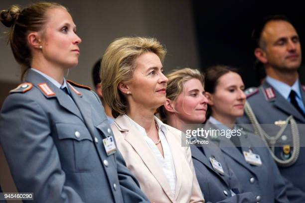 Tobias Wendl is pictured during a ceremony to honour the members of the Bundeswehr who attended the Winter Olympic Games in Pyeongchang at the...