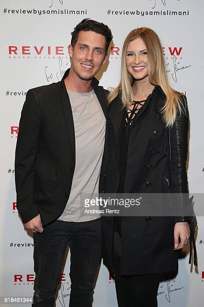 Tobias Wolf and Maren Merkel attend the REVIEW by Sami Slimani Capsule Collection launch party on March 31 2016 in Duesseldorf Germany