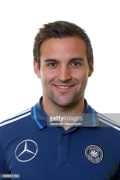 Tobias Wuerzberger teacher for the Germany national U16 team poses during the team presentation on October 21 2015 in Grodig Austria