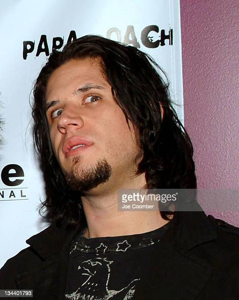 Tobin Esperance of Papa Roach during Dragonfly Clothing Launch Party Hosted by Papa Roach at Pure in Las Vegas Nevada United States