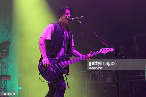 Tobin Esperance of Papa Roach performs at Brixton Academy on December 10 2012 in London England