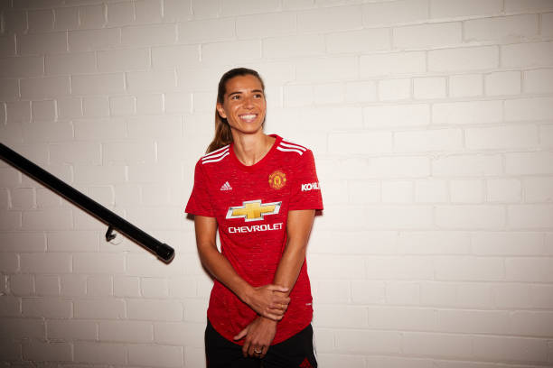 GBR: Tobin Heath Arrives for her First day at Manchester United Women